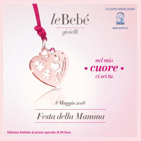 Ciondolo Le Bebè Cuore di mamma LBBCDM16