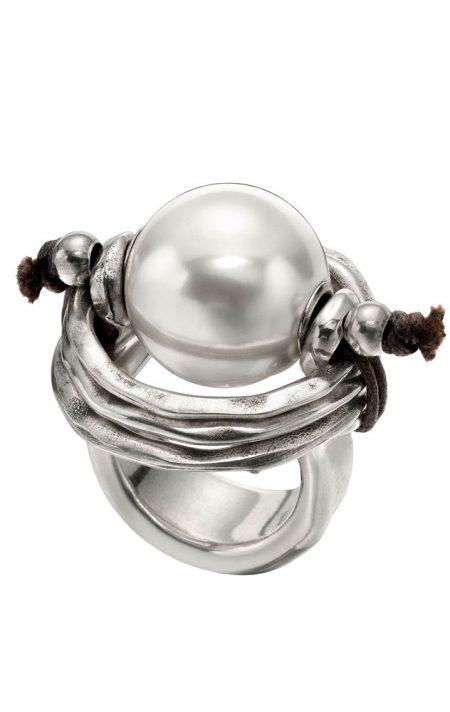 Anello UNOde50 argento Pearl of wisdom ANI0390BPLMTL0M