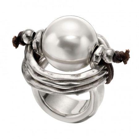 Anello UNOde50 argento Pearl of wisdom ANI0390BPLMTL0L
