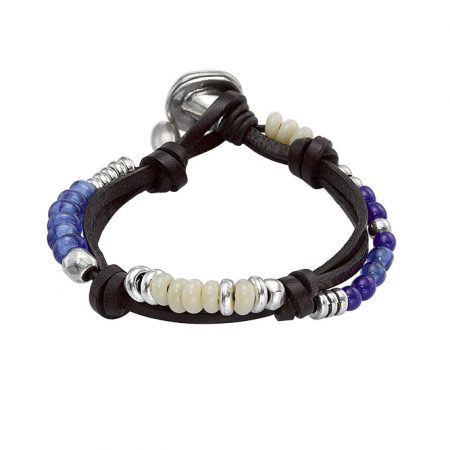 Bracciale UNOde50 argento Freedom vibes PUL1403AZUMAR0M