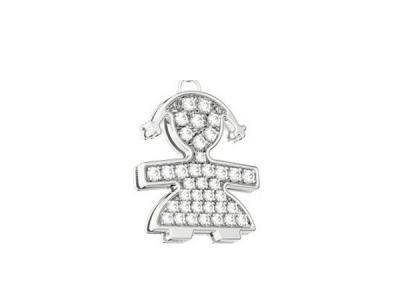 Ciondolo LBB035 LeBebé Femminuccia Oro Bianco Diamanti