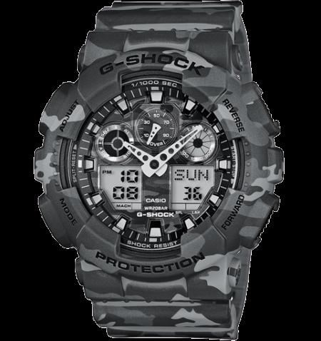 Orologio Casio g-Shock Multifunzione Camouflage GA-100CM-8AER