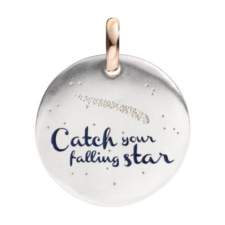 Queriot Moneta Oro e Argento 925 Catch your falling star