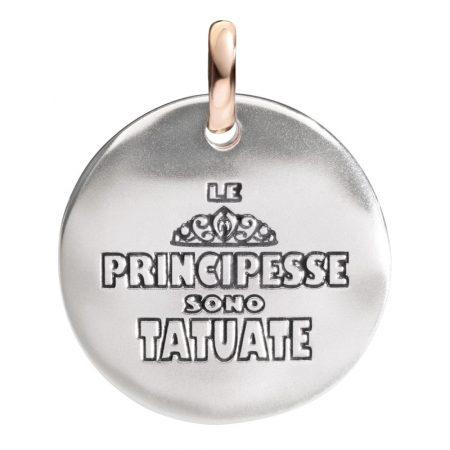 Queriot Moneta Oro e Argento 925 Le principesse sono tatuate