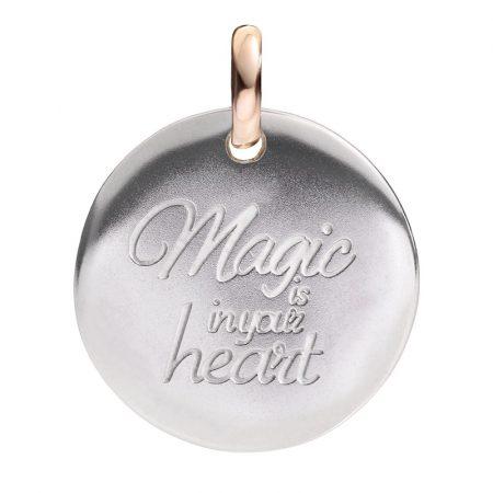 Queriot Moneta Oro e Argento 925 Magic is in your heart