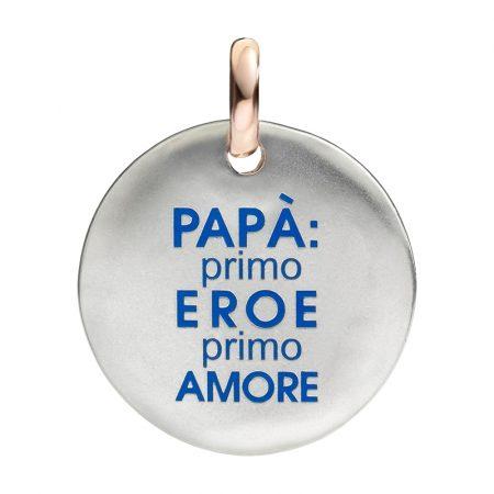 Queriot Moneta Oro e Argento 925 Papà primo eroe