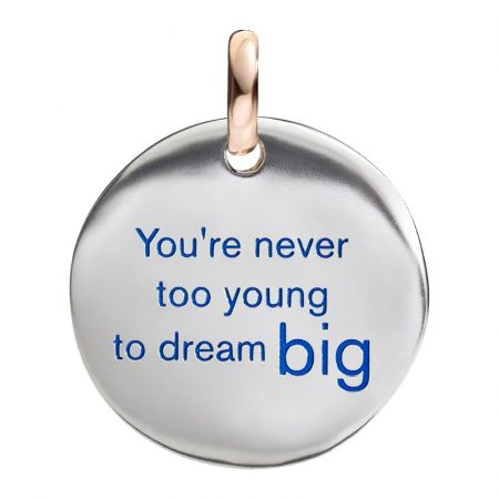 Queriot Moneta Oro e Argento 925 You are never too young to dream big