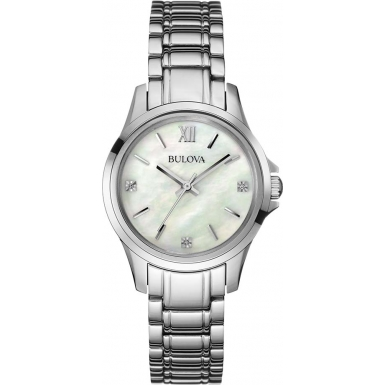 Orologio Bulova Diamond Madreperla Diamanti Donna 96P152