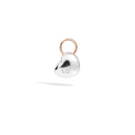 Micro ciondolo cuore Love Argento 925 e Oro 9k