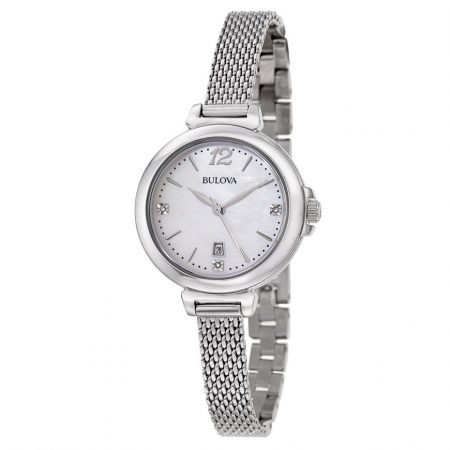 Orologio Bulova Diamond Madreperla Diamanti Donna 96P150