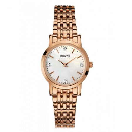 Orologio Bulova Diamond Madreperla Diamanti Donna 97P106