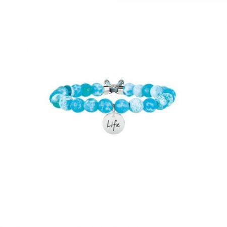 Bracciale Kidult Collezione Life Symbols Agata Azzurra 231532
