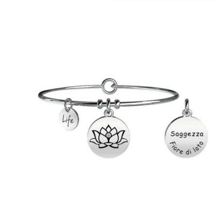 Bracciale Kidult Collezione Life Symbols Fiore di Loto 231608