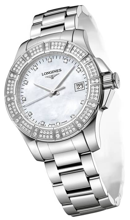Orologio Longines Conquest Quarzo Diamanti Madreperla L32800876