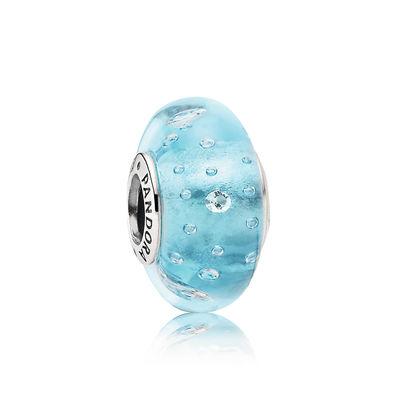 Pandora Bolle Frizzanti Azzurre Charm Originale Murano 791618CZ