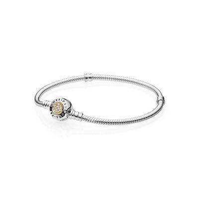 Pandora Bracciale Argento Chiusura Oro Argento Misura 17 590741CZ-17