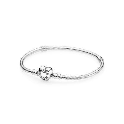Pandora Bracciale Componibile Argento Cuore Misura 18 590719-18