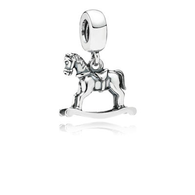Pandora Cavallo Dondolo Pendente Charm Originale Argento 791413
