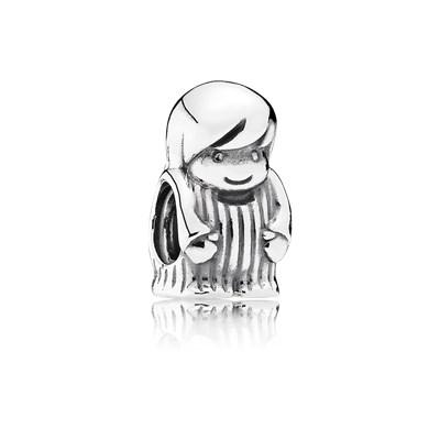 Pandora Charm Bimbo Argento Sterling Originale 791530