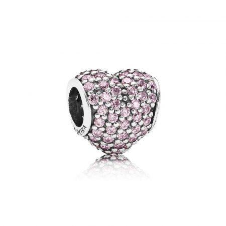 Pandora Charm Cuore Pavé Rosa Originale 791052PCZ