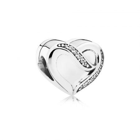 Pandora Charm Nastro d'Amore Originale Argento 791816CZ