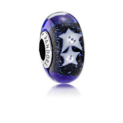 Pandora Cielo Notturno Stellato Charm Originale Murano 791662CZ