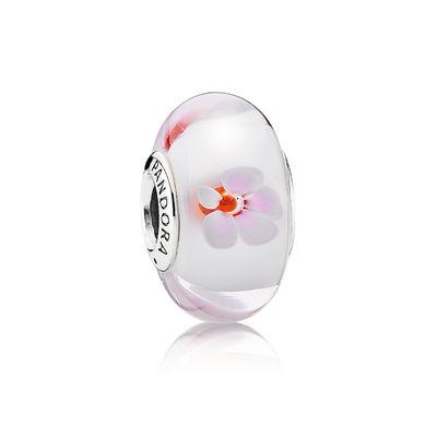 Pandora Fiori Ciliegio Rosa Charm Originale Vetro di Murano 790947