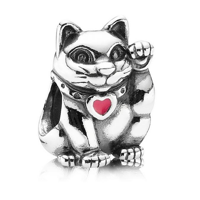 charm pandora gattino