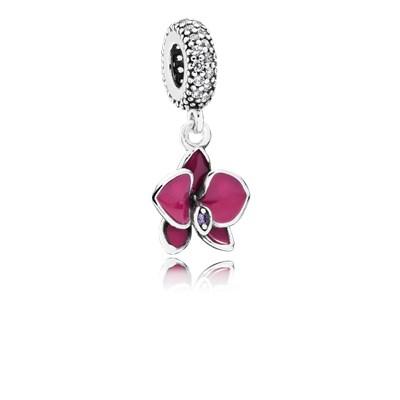 Pandora Orchidea Charm Originale Argento 791554EN69