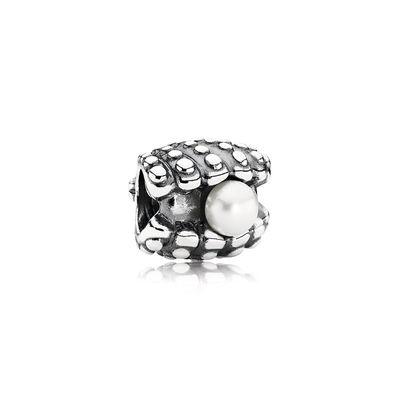 Pandora Ostrica Perla Charm Originale Argento 791134P
