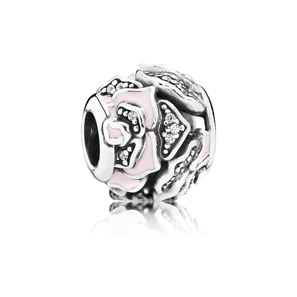 charms pandora argento rosa