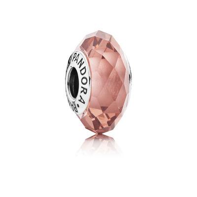Pandora Sfaccettato Rosa Antico Charm Originale Murano 791729NBP