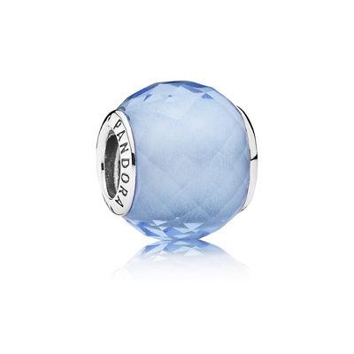 Pandora Sfera Sfaccettata Azzurra Charm Originale 791499SBQ