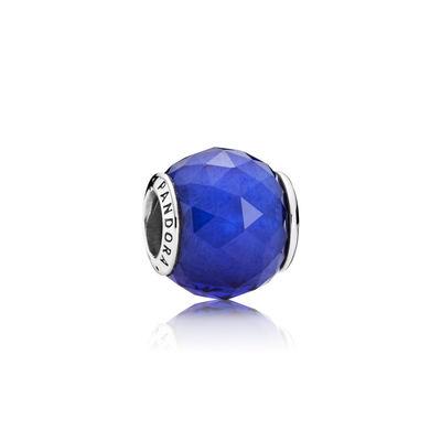 Pandora Sfera Sfaccettata Blu Charm Originale Murano 791722NCB