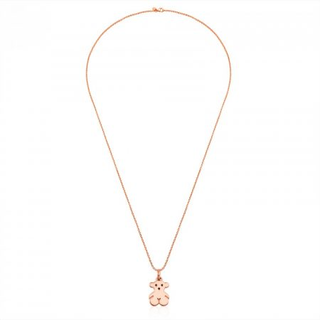 Collanina Tous Orsetto Catenina Placcato Oro Rosa 18kt 415904630