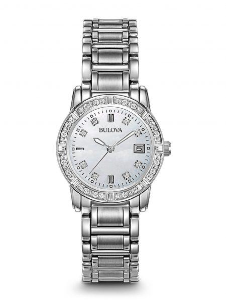 Orologio Bulova Diamond 96R105 Diamanti Acciaio Donna