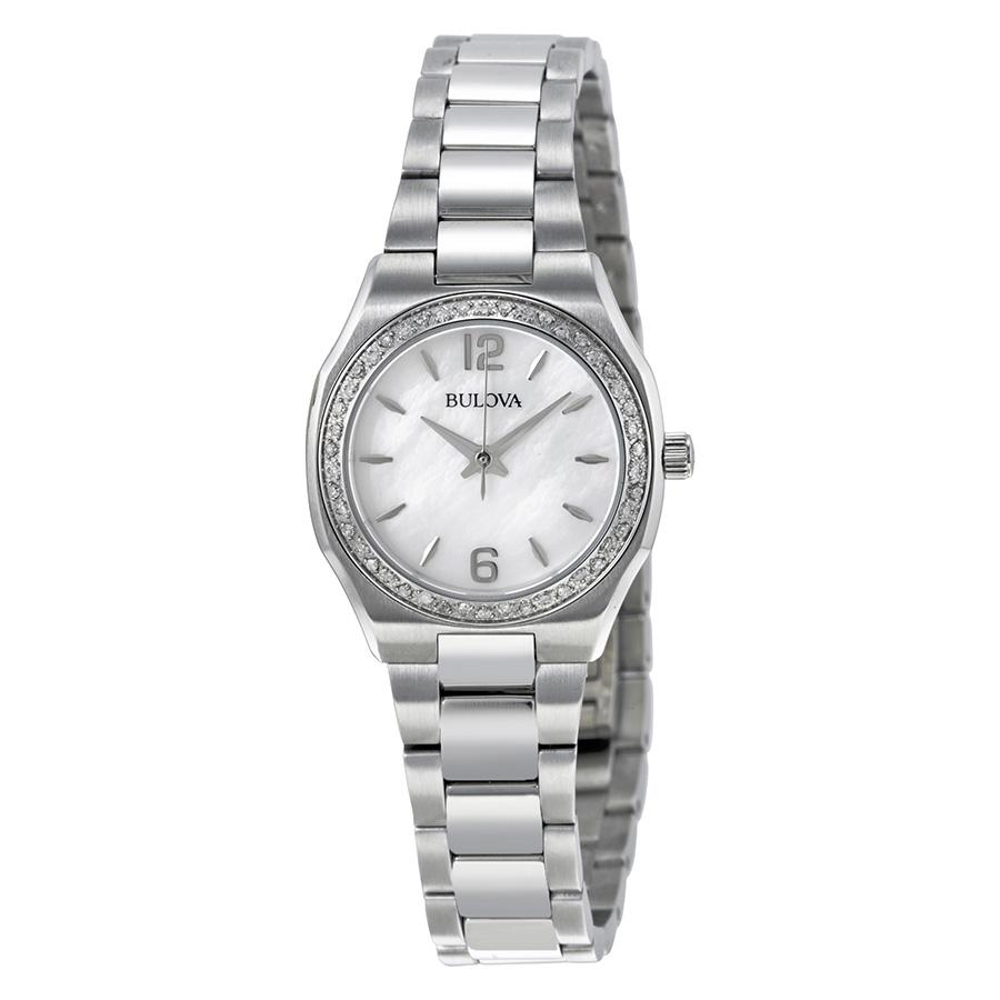 design unico spedizione gratuita stili classici Orologio Bulova Diamond 96R199 Diamanti Acciaio Donna