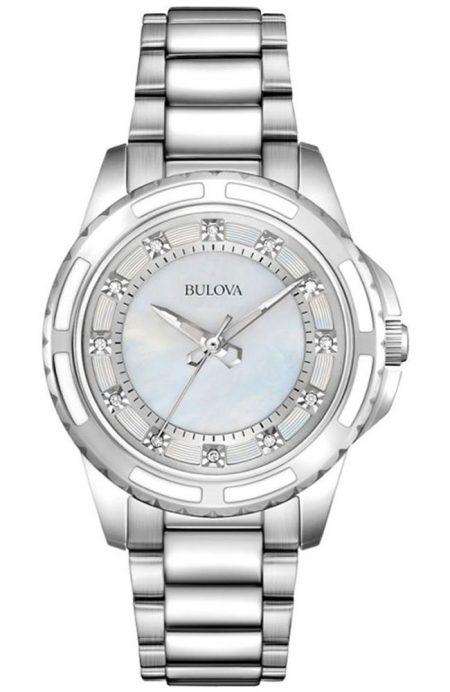 Orologio Bulova Diamond 96S144 Diamanti Acciaio Donna