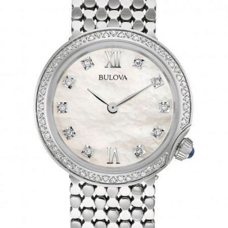 Orologio Bulova Diamond 96S163 Diamanti Acciaio Donna