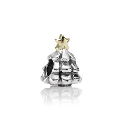 Albero Di Natale Pandora.Pandora Albero Di Natale Charm Originale Oro 14k Argento 790365