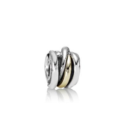 Pandora Anelli Intrecciati Charm Originale Oro 14k Argento 790153