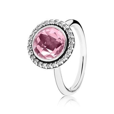 anello pandora pietra rosa