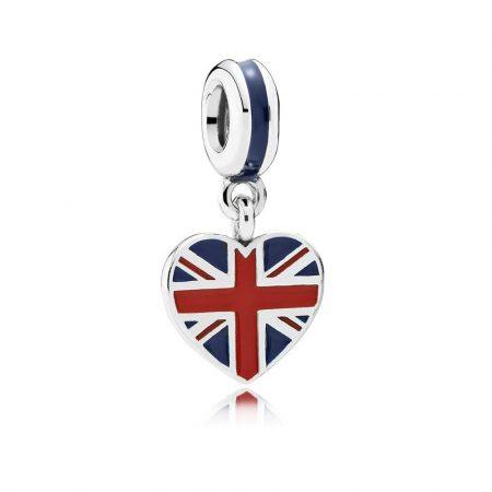 Pandora Bandiera Gran Bretagna Charm Originale Argento 791512ENMX