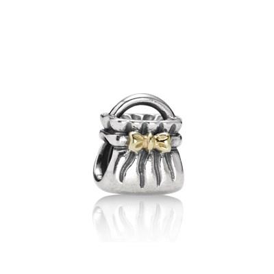 Pandora Borsetta Charm Originale Oro 14k Argento 790474