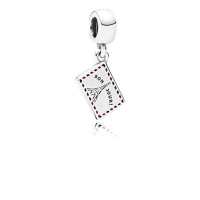 Pandora Cartolina Charm Originale Argento Sterling 791711ENMX