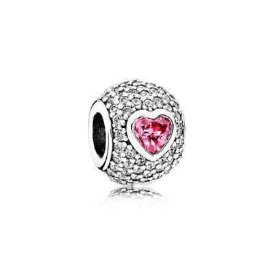 Pandora Charm Cuore Seducente Charm Originale Argento 791815CZS