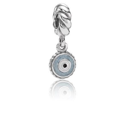 Pandora Charm Occhio Azzurro Originale Argento Sterling 790529EB