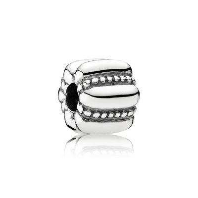 Pandora Clip A Coste Ricamate Charm Originale Argento 790446