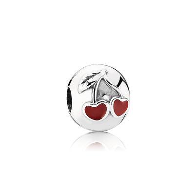 Pandora Clip Ciliegine dell'Amore Charm Originale Argento 791093EN39