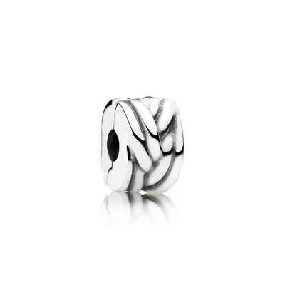 Pandora Clip Intreccio Charm Originale Argento 791774